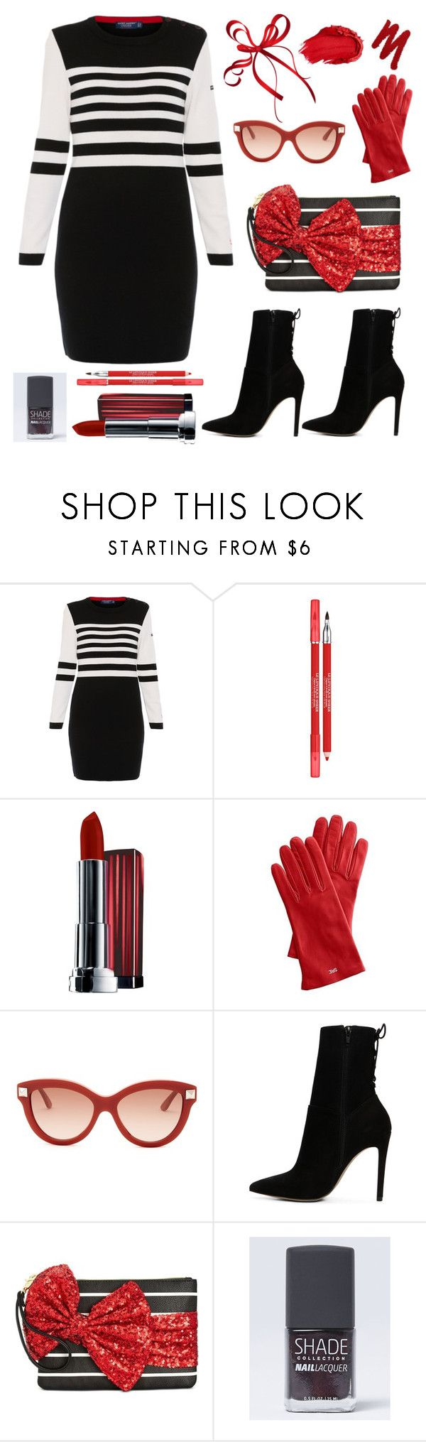 """""""Shade"""" by felicitysparks ❤ liked on Polyvore featuring Saint James, Lancôme, Maybelline, Urban Decay, Mark & Graham, Valentino, ALDO, Betsey Johnson and Lane Bryant"""