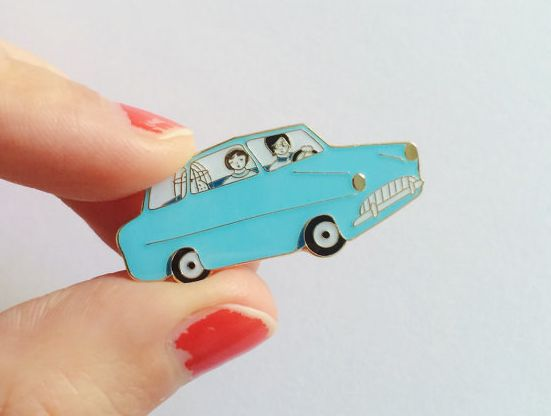 A flying car pin that is almost as good as an *actual* flying car. | 35 Awesome And Inexpensive Harry Potter Gifts