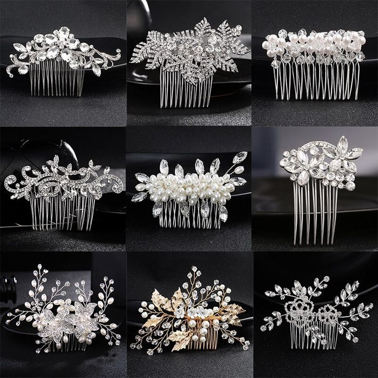 Chic Women Bridal Hair Jewelry Accessories Elegant Wedding Hair Combs Handmade Alloy Crystals Tiara Headdress Ornaments Female