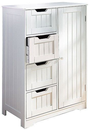 Luxury D Scan White Double Door Storage Cabinet