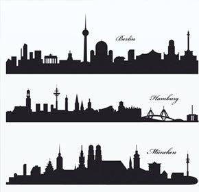 Lade Skylines deutscher Städte als EPS bei uns runter. Die Skylines dürfen privat wie auch für kommerzielle Zwecke verwendet werden.