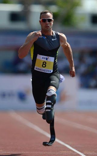 Oscar Leonard Carl Pistorius (born 22 November 1986) is a South African sprint runner. Although both of Pistorius' legs were amputated below the knee when he was 11 months old, he competes in events for single below-knee amputees and for able-bodied athletes.<br>At the 2011 World Championships in Athletics, Pistorius became the first amputee to win an able-bodied world track medal. At the 2012 Summer Olympics, Pistorius became the first double leg amputee to participate in the Olympics when…