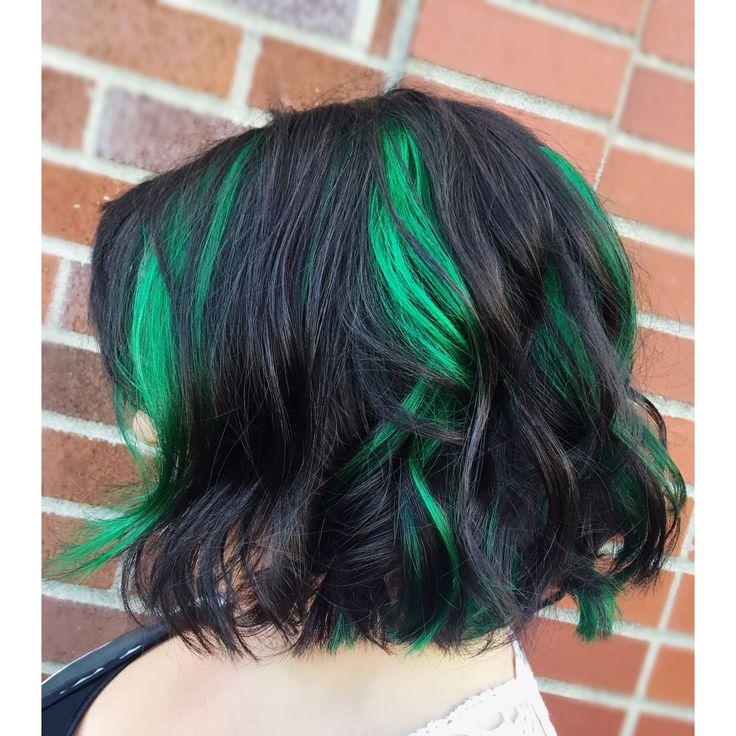 Green Peekaboo Hair