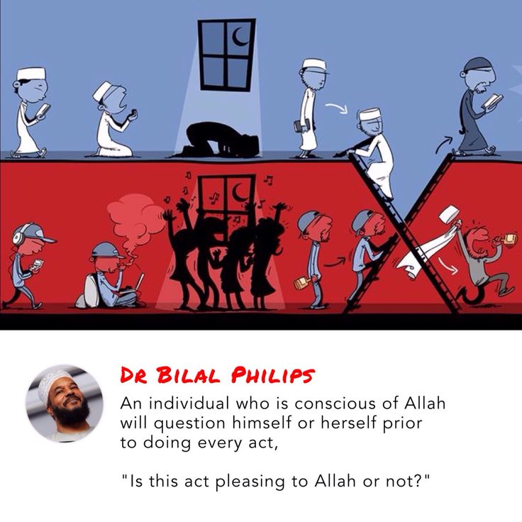 """An individual who is conscious of Allah will question himself or herself prior to doing every act, """"Is this act pleasing to Allah or not?"""" - Dr Bilal Philips"""