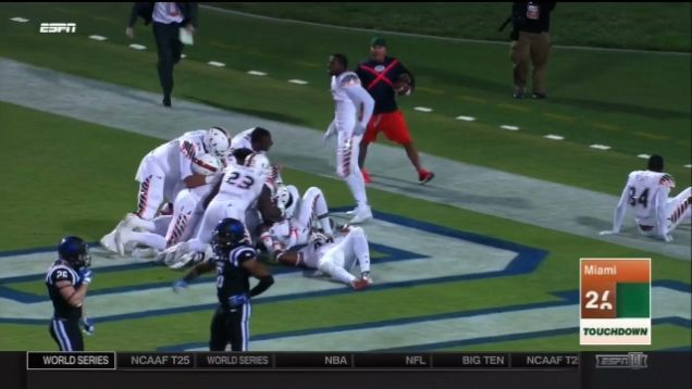Miami Hurricanes Pull Off Mind-Blowing, Incredible Kick Return With No Time Remaining