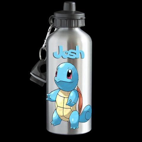 Squirtle Pokemon Go Personalised Water Bottle