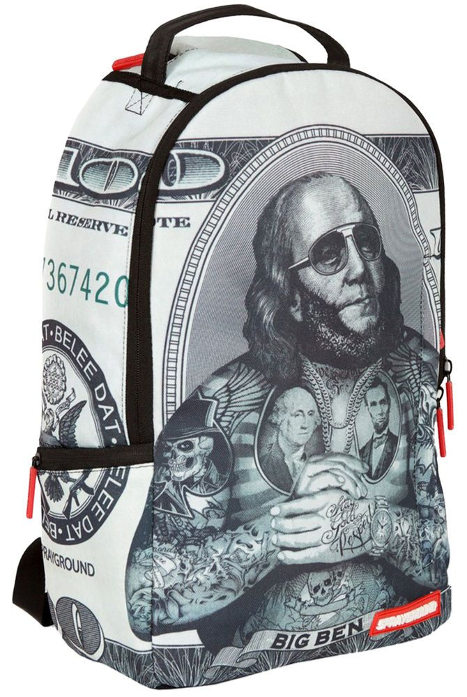 Sprayground Big Ben Rick Ross Money Tattoo Rapper Hundred Laptop Book Backpack