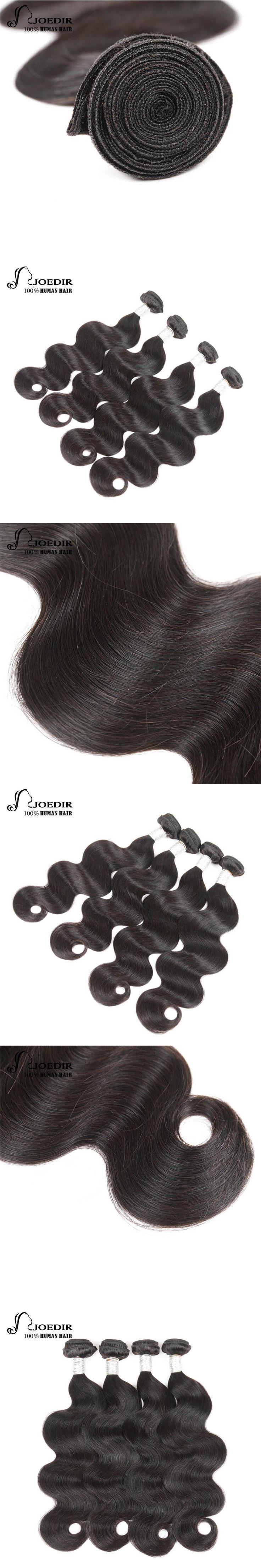 Joedir Pre-colored Peruvian Hair Body Wave Hair Bundle Deals 3 Bundles 4 Bundles  Remy Natural Color Human Hair Weave Bundles
