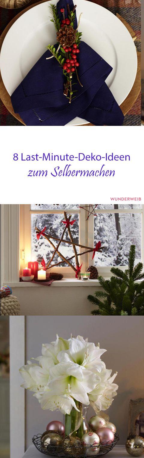 8 last minute deko ideen zum selbermachen weihnachten pinterest schnell weihnachten und. Black Bedroom Furniture Sets. Home Design Ideas