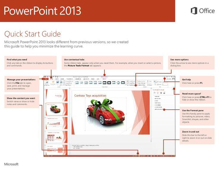powerpoint-2013-quick-start-guide by Microsoft Education UK via Slideshare