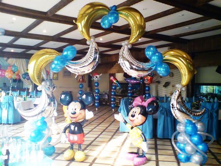Оформление шарами детского дня рождения в Москве, украшение комнаты мальчика или девочки