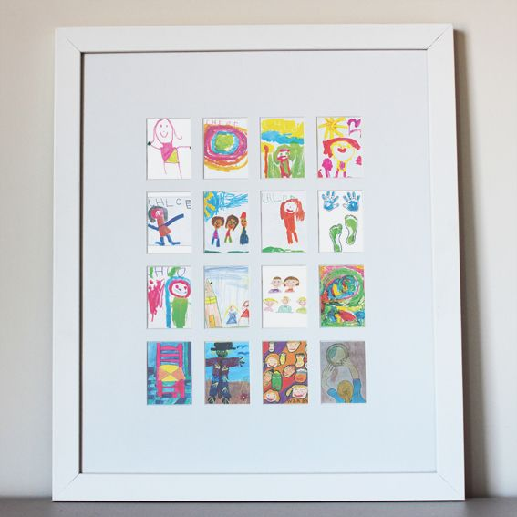 Chloe's mum has rescued her artwork from the cupboard and now it is up on the wall for all to see.