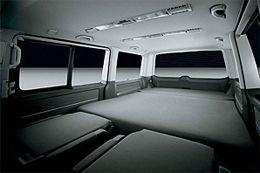 VW Caravelle sleep pack flatbed