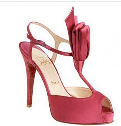Christian Louboutin Ernesta T-Strap Satin Evening Pink Sale Outlet  AVAILABILITY: IN STOCK