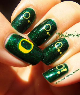 Oregon Duck Stamped nail art for 10.5.13