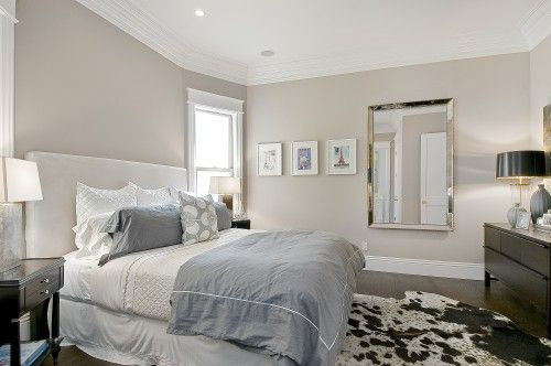 Am thinking about a mirror like this for the wall in my bedroom. I love the use of the wall space.