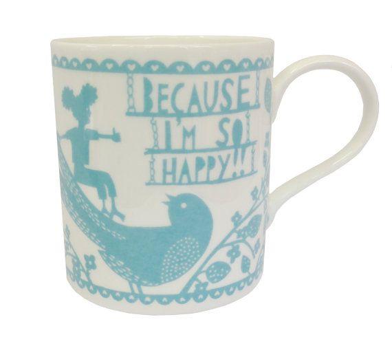 Happy/Naughty Ceramic Mug by misterrob on Etsy, $32.87