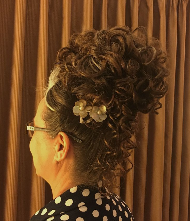 My grandmothers hair that I did for a meeting. #longhair #apostolic #pentecostal #hairstyle #tophairstyle #hair #curledhair