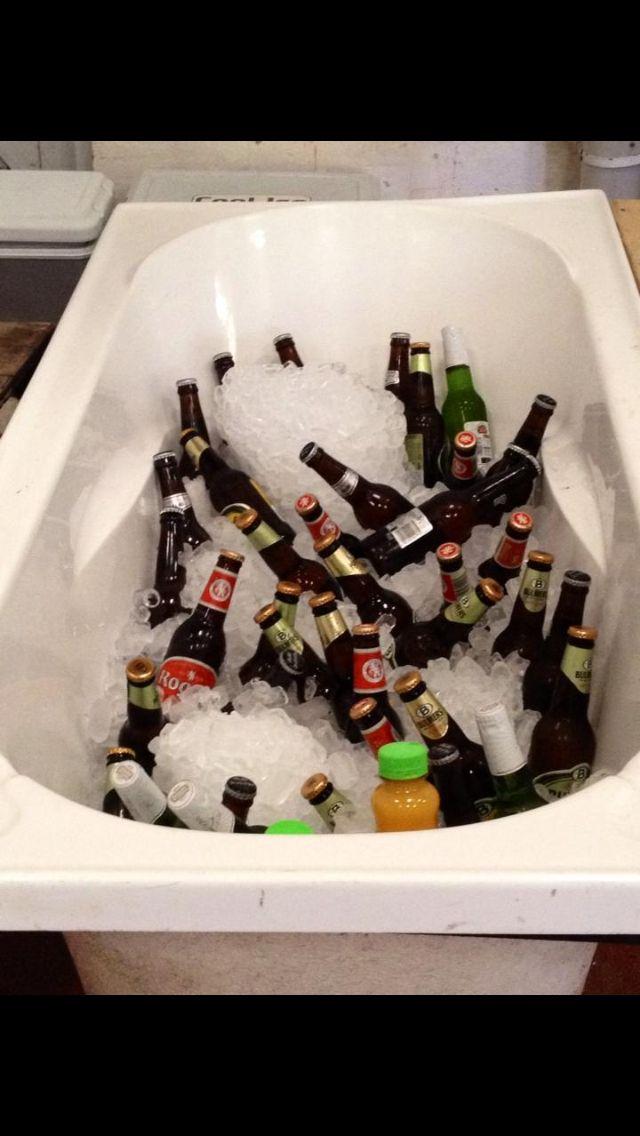 Bathtub drinks retro wedding ideas