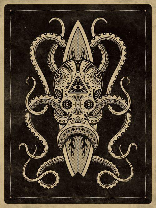 El Pulpo Art Print by DKNG