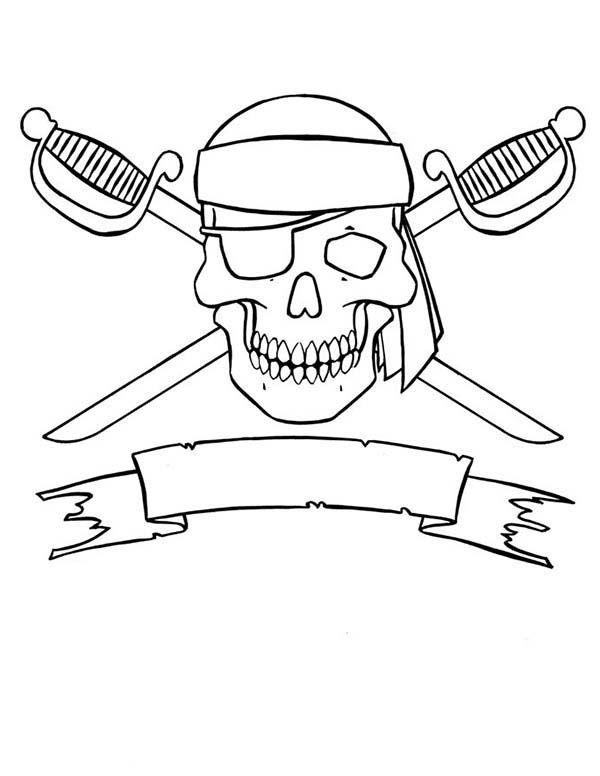 Piraten Totenkopf Zum Ausmalen Kinder Ausmalbilder