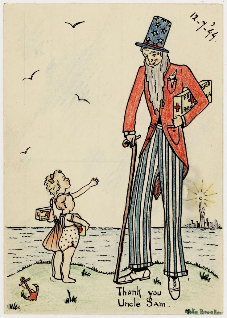 Thank you Uncle Sam by Joke Broekema, 1944. Museon, CC BY