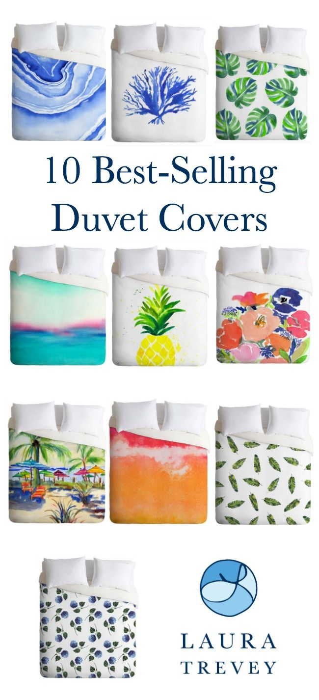 Here are our 10 best selling duvet covers if you're looking to refresh your bedroom! From coastal living sea coral and beach scenes to abstract agate.