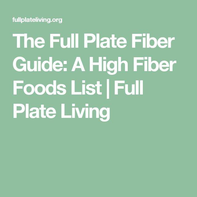 The Full Plate Fiber Guide: A High Fiber Foods List | Full Plate Living