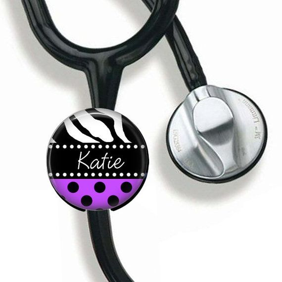 Nurse Doctor Stethoscope Button, Stethoscope ID tag, Personalized Stethoscope Identification