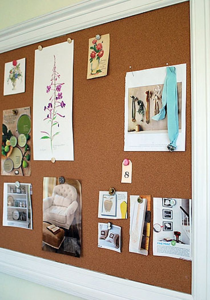 How to make a framed bulletin board home paper and for Diy bulletin board for bedroom