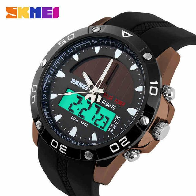 Special offer Skmei Solar Power Energy Men Sports Watches Digital Quartz Watch Relogio Masculino Solar Men Military Watch relojes hombre 2015 just only $11.98 with free shipping worldwide  #menwatches Plese click on picture to see our special price for you