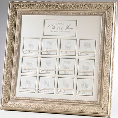 Luxe Framed Table Plan