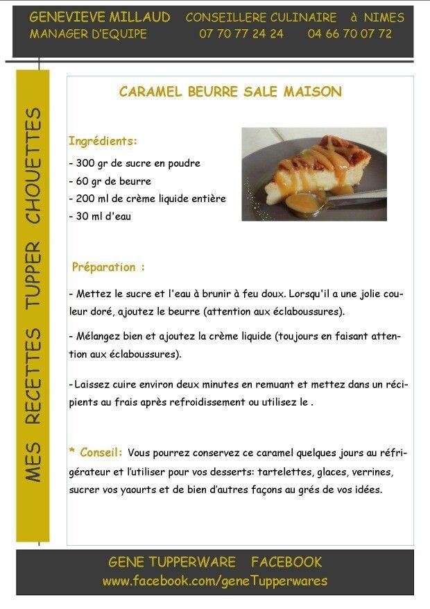 Caramel au beurre salé (Tupperware)