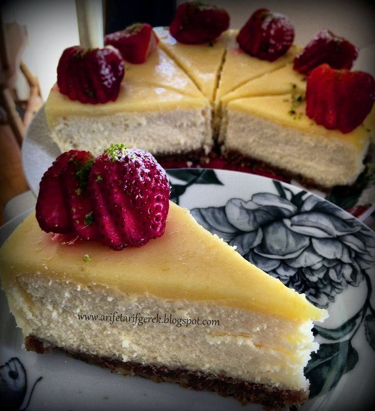 ARIFE TARIF GEREK: Limonlu Cheesecake (Videolu Tarif)