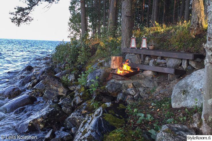 Diy nuotiopaikka rannalle - Sisustuskuvia StyleRoom