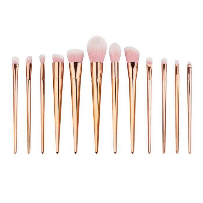 12pcs Professional Makeup Brushes Set Foundation Blusher Powder Eyeliner Brush R…