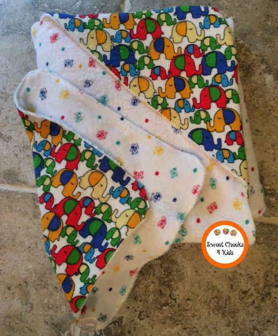 Hooded Baby Towel Set Gift for Her Rainbow by SweetCheeks4Kids