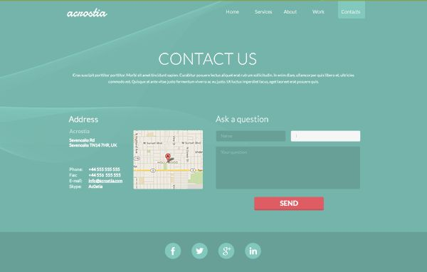 One Page Website Template Psd 5
