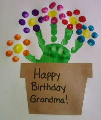 Happy Birthday Hand Print Card