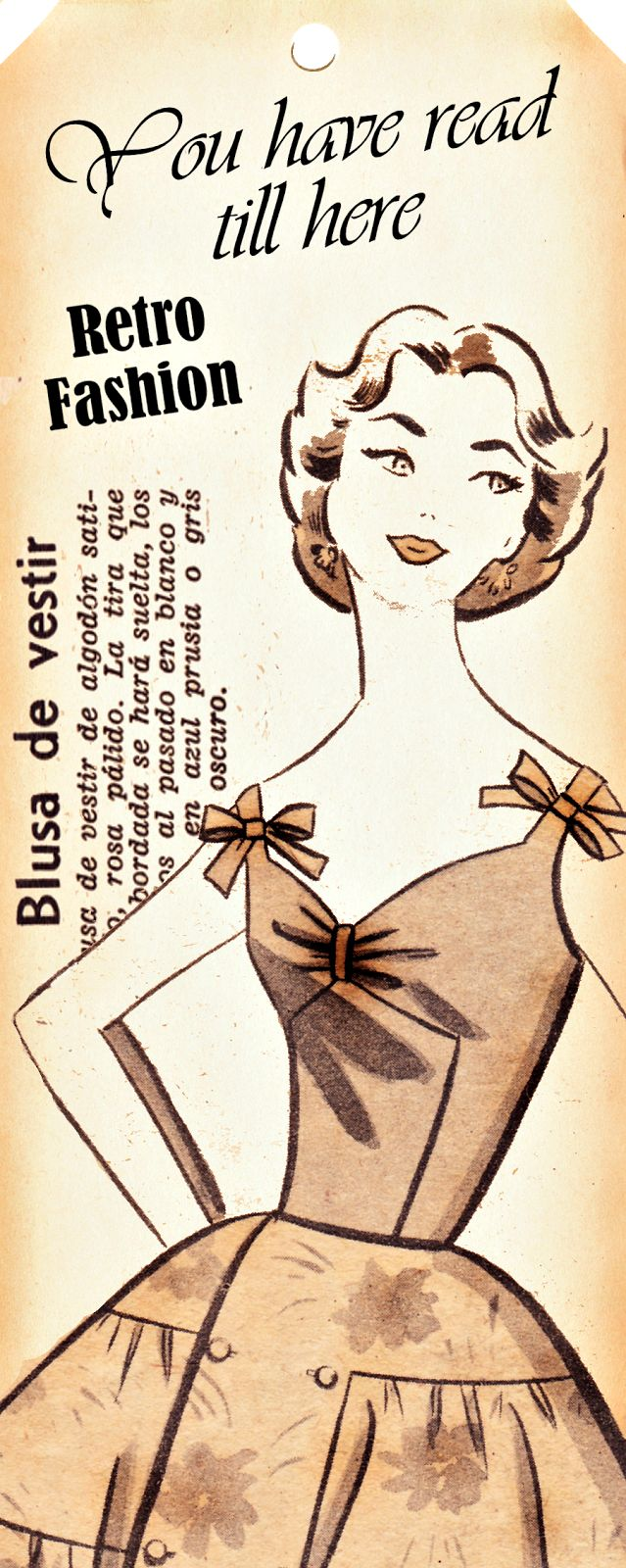 Boulevard de L'antique - Retro Scraps: Free Printable Retro Fashion Bookmarks/Tags
