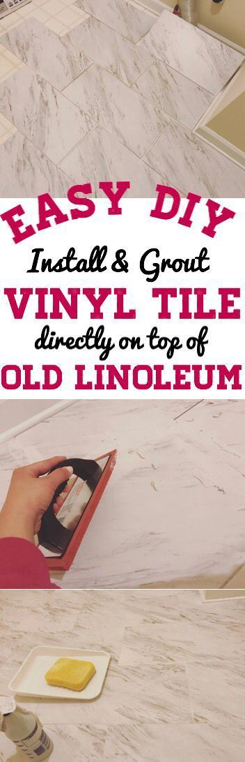vinyl tile flooring groutable luxury vinyl tile peel and stick flooring kitchen bathroom laundry room over linoleum how to install vinyl tile peel and stick - Laminatboden Pro Und Contra Galerie