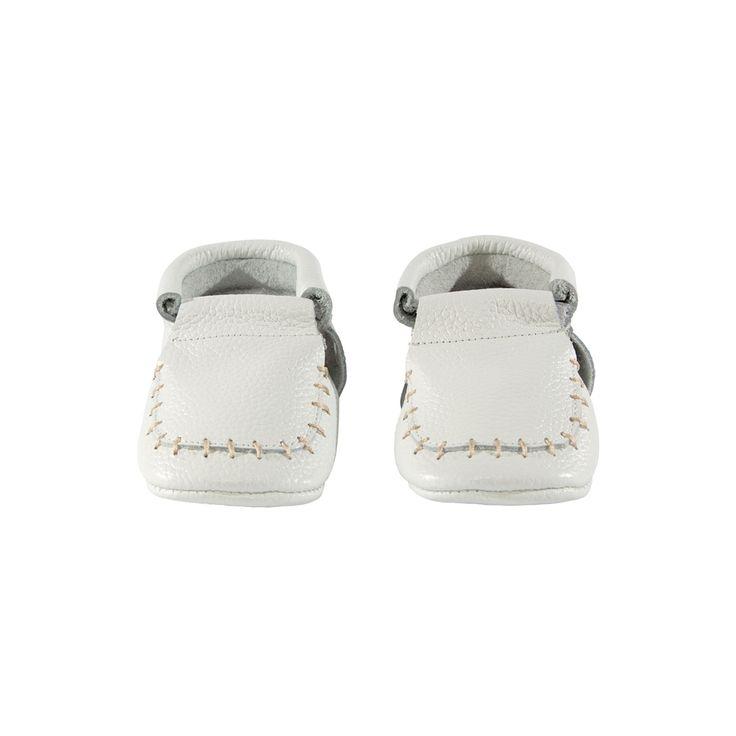 White Loafer Moccasins
