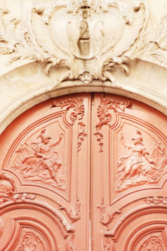 Detailed craftsmanship ~ Coral door in Paris.
