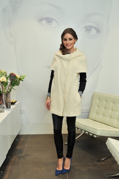 Olivia Palermo - love this short sleeved coat!