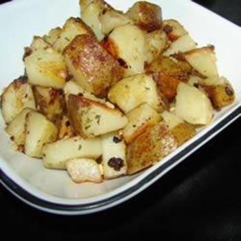 Steve's Famous Garlic Home Fries: Garlic Potatoes, Recipe, Steve S Famous, Yummy Potatoes, Breakfast Potatoes, Home Fries, Famous Garlic, Homes