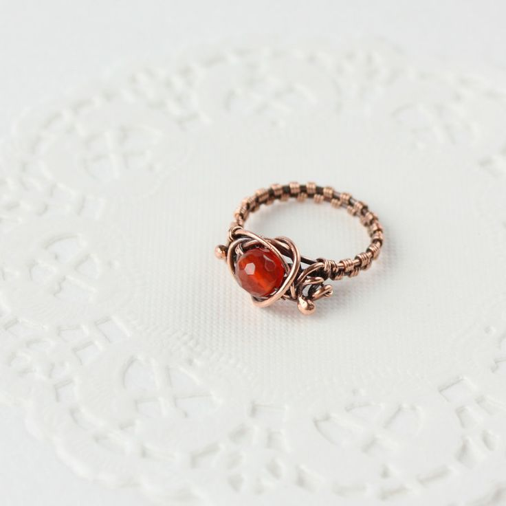 Best 167 Wire Wrapped Rings images on Pinterest | Wire wrapped rings ...