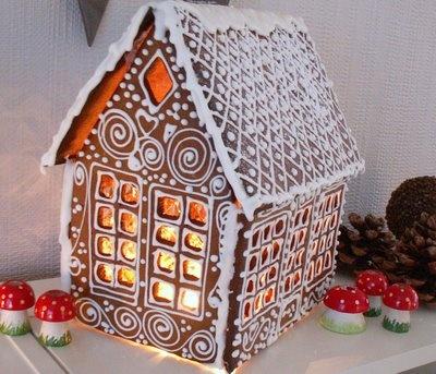Gingerbread house!  Den gode feen: Mal til pepperkakehus +++