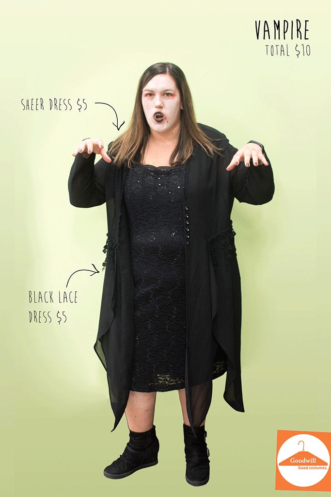 127 best diy halloween costume images on pinterest diy halloween diy vampire costume from goodwill solutioingenieria Images