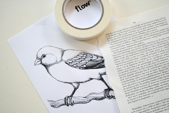 DIY - How to print on bookpages and make pretty wall art