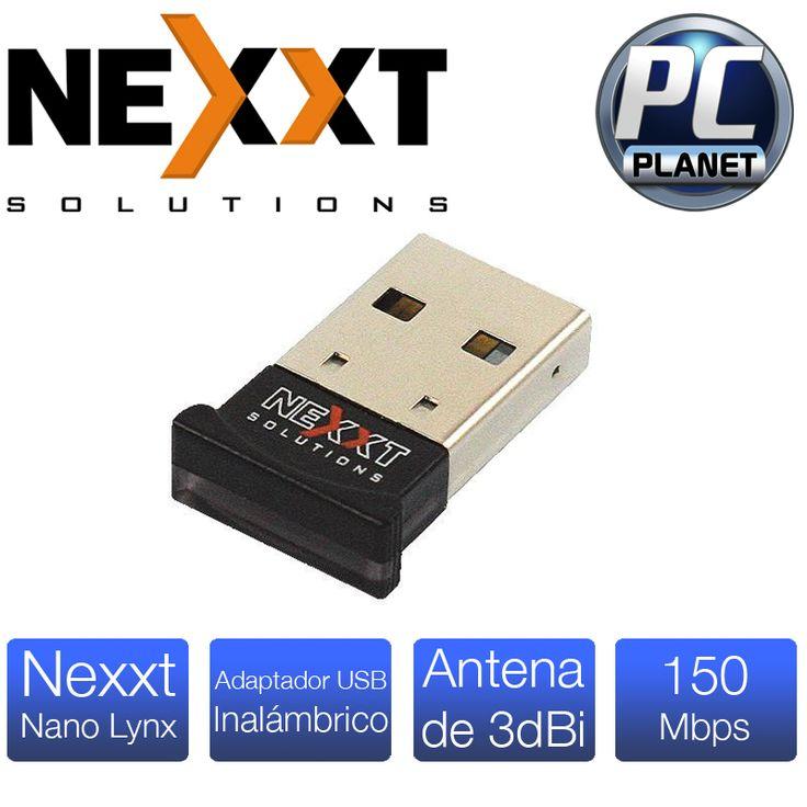 Nexxt Nano Lynx. Compacto adaptador de conexión inalambrica que incorpora la tecnología N, es capaz de dar conectividad a altas velocidades en eplicaciones que utilicen gran ancho de banda. Frecuencia de 2.4 GHz con 150 Mbps de transmision. con su instalanción rapida estarás conectado a tu red en minutos.
